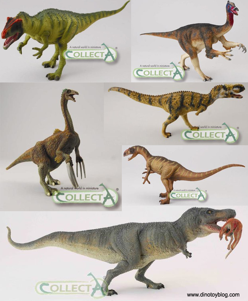 CollectA dinosaurs, new for 2012, theropods