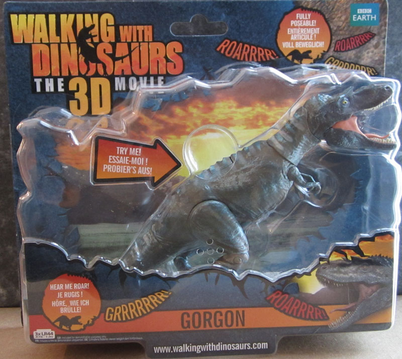 gorgon walking with dinosaurs 3d figure in box front