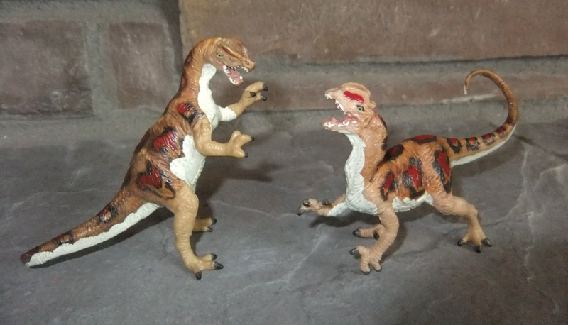 Dilophosaurus pair Carnegie Collection